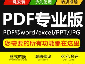 PDF格式和Word 、PPT、 Excel图片等格式相互转换编辑专业版